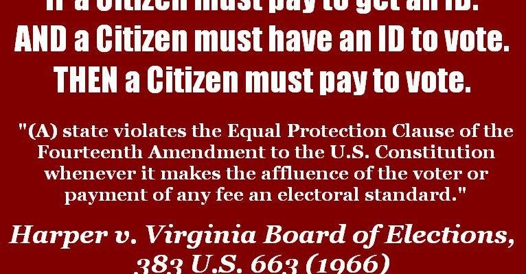 Harper v. Virginia Board of Elections - image by The Progressive Family