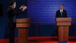 First 2012 Presidential Debate - Mitt Romney and Barack Obama- JIM BOURG/REUTERS