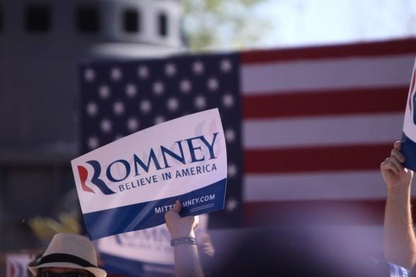 Mitt Romney sign - photo by Gage Skidmore