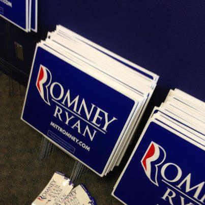 Romney - Ryan - yard sign