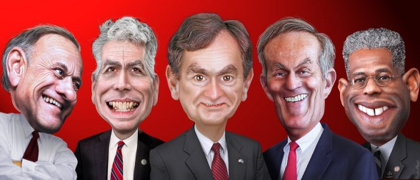Republicans - King, Walsh, Mourdock, Akin & West - image by DonkeyHotey
