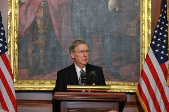 Senate Minority Leader Mitch McConnell - photo by Talk Radio News Service