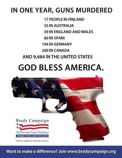 Brady Campaign - God Bless America - Gun Violence