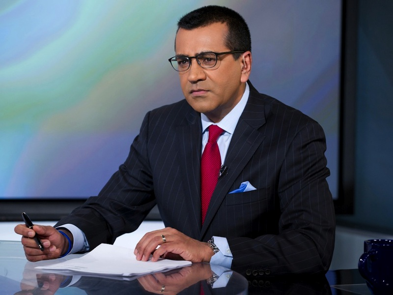 Martin bashir on set