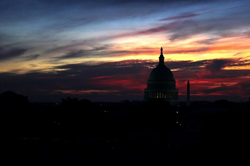 U s capitol dusk