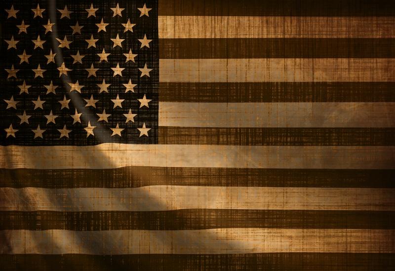Weathered us flag