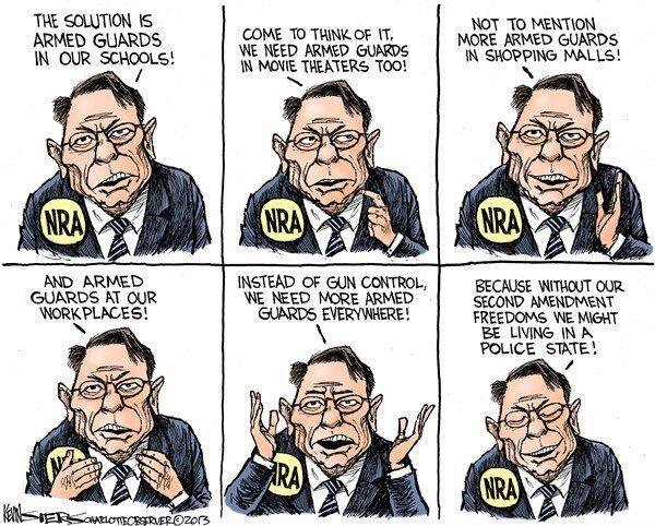 Nra wayne lapierre police state armed guards