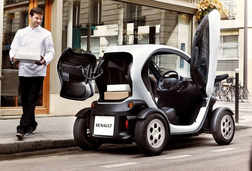 Renault Twizy. Two-seater. 100% electric. 10th best-selling electric car in Europe.