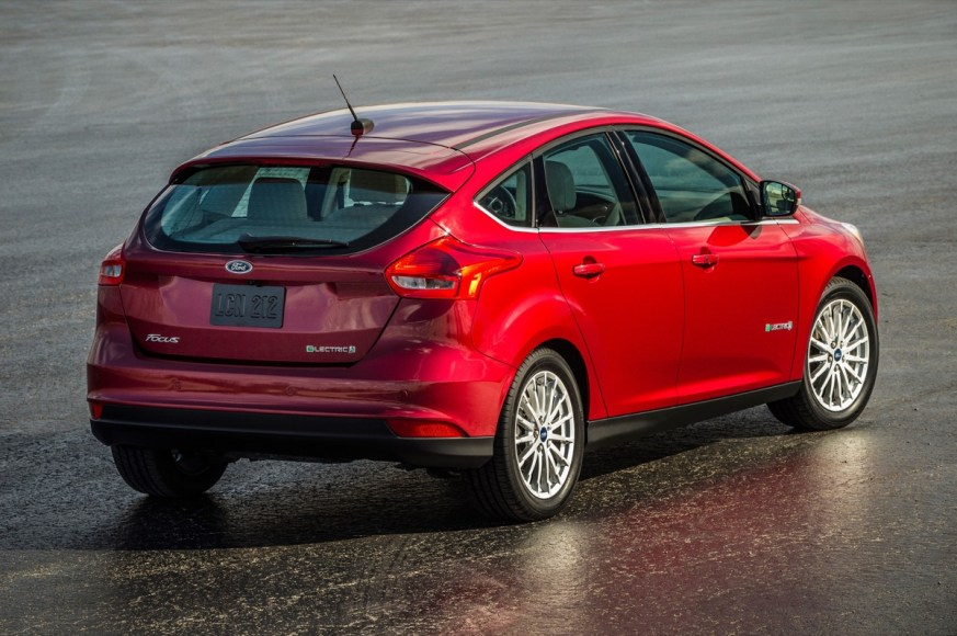 Ford Focus Electric. 100% electric. 105 MPGe. 76 mile range.