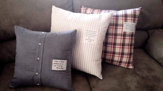 memory pillows lefty quilter creations
