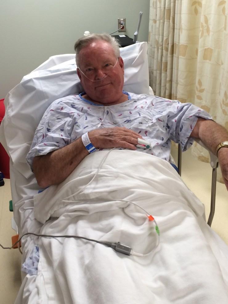 David in hospital