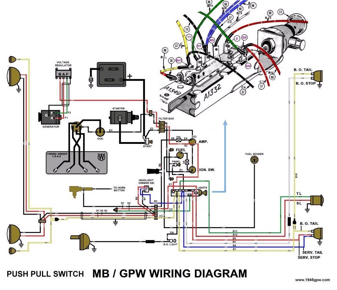 1947 willys jeep wiring wiring diagram 2000 Jeep Wrangler Radio Wiring Diagram