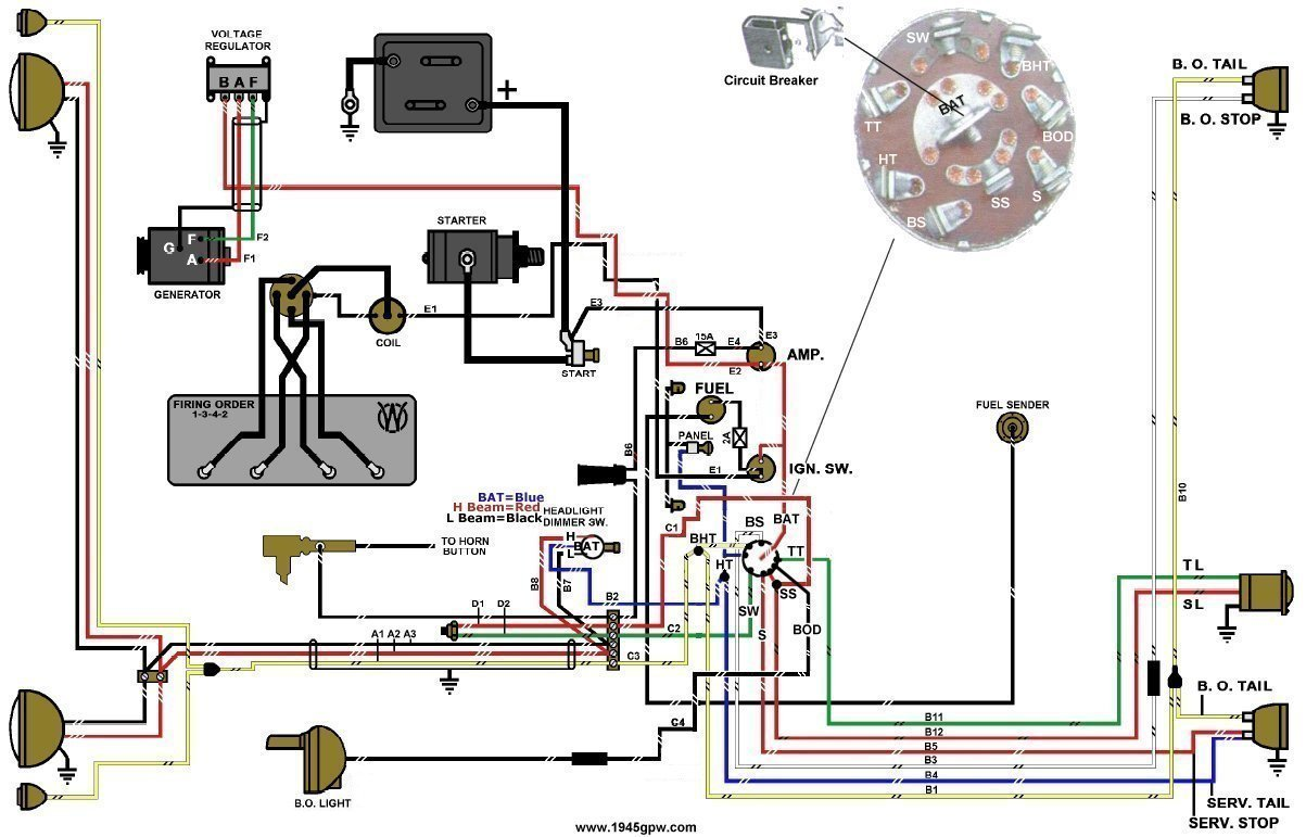willys jeep wiring diagram 2001 ford explorer sport trac fuse box g503 wwii and mid late 1944