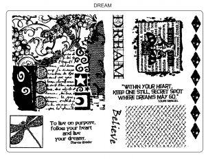U-mount Dream A5 Stamp Plate