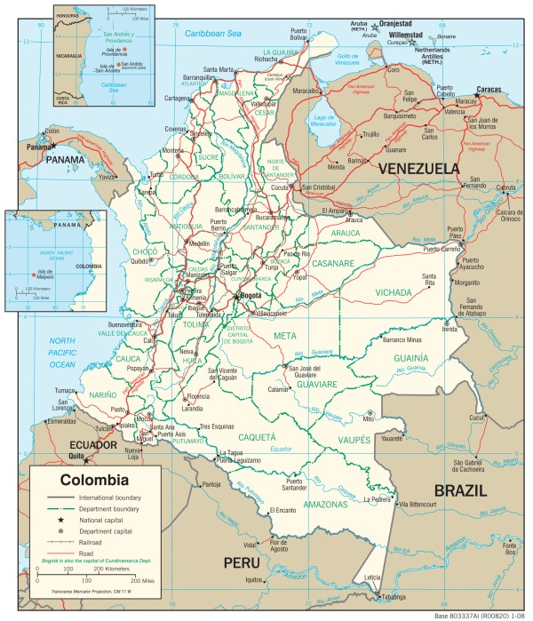 Colombia Maps PerryCastañeda Map Collection UT