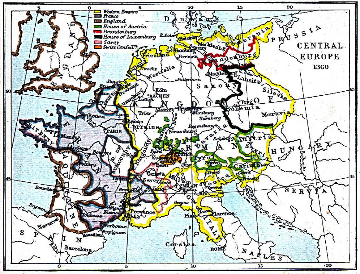 Maps Of Central Europe 980 A D
