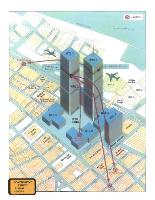 small resolution of  map of the world trade center area depicting the paths of flights 11 and 175