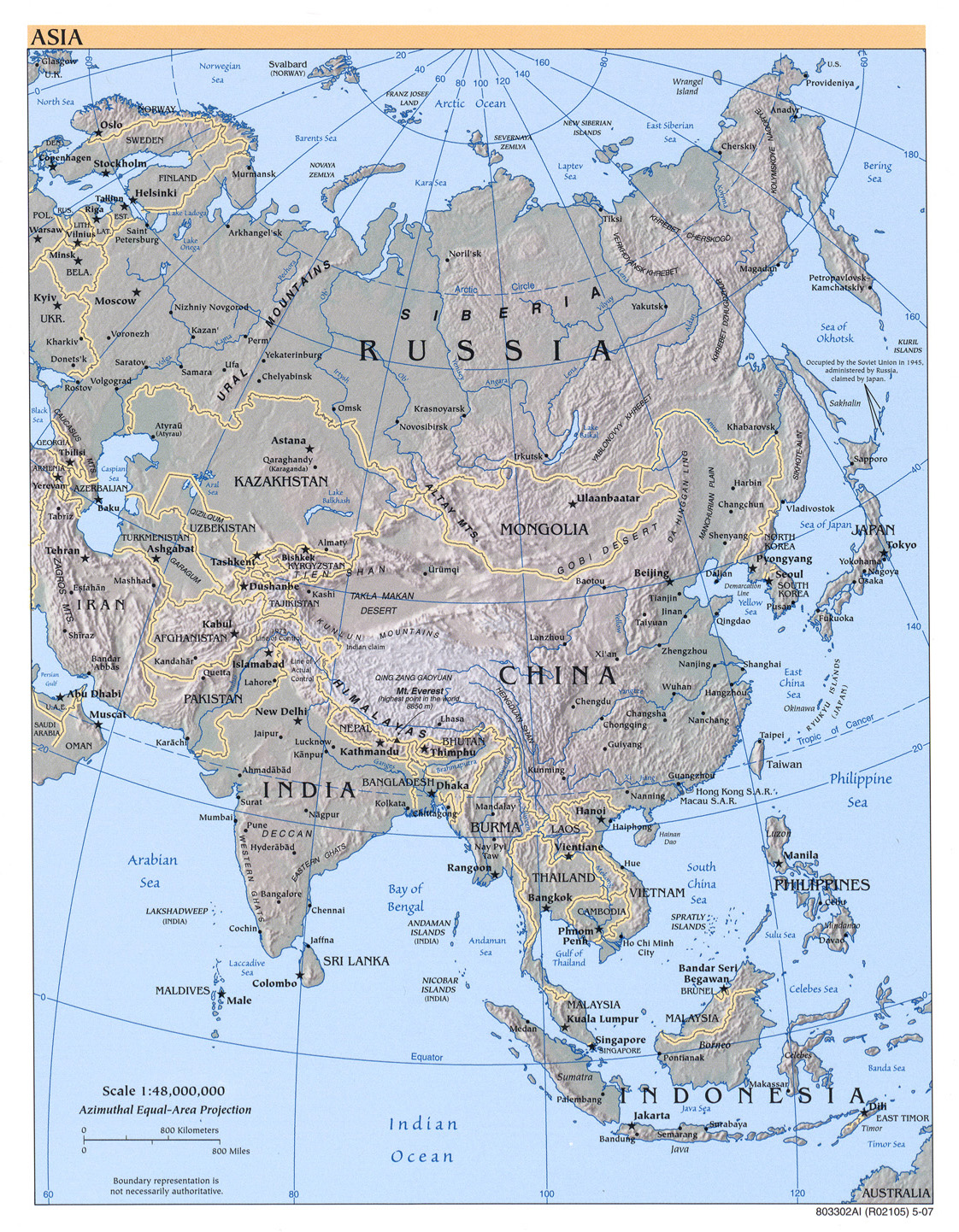 Russia And Eurasian Republics Map : russia, eurasian, republics, Russia, Former, Soviet, Republics, Perry-Castañeda, Collection, Library, Online