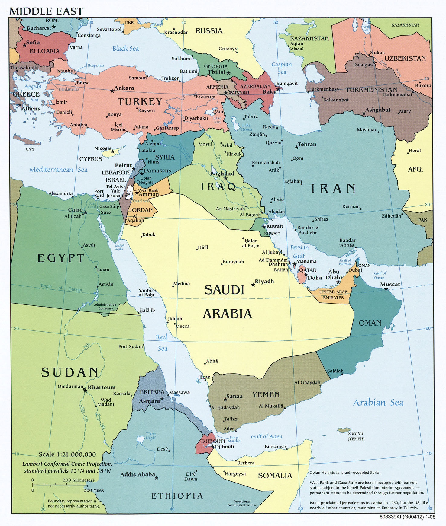 hight resolution of middle east maps