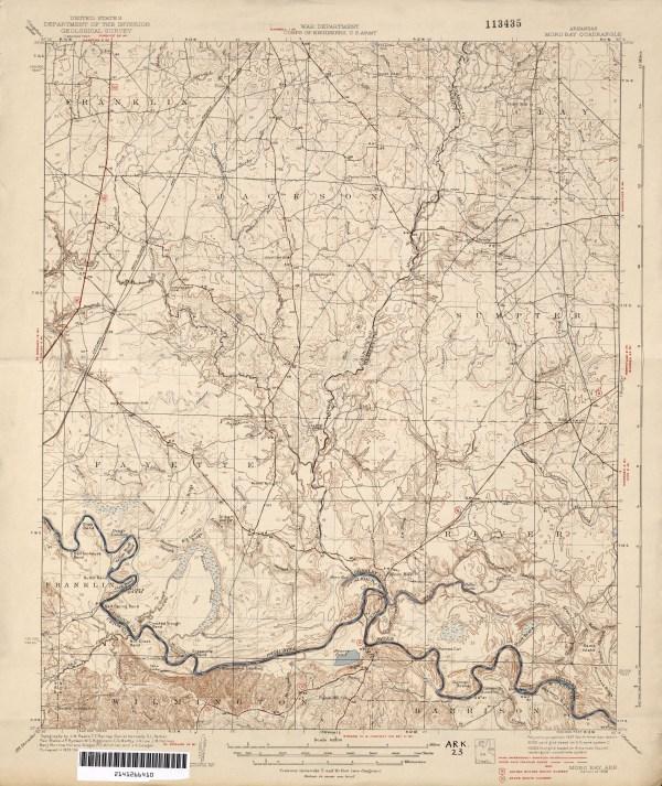 Arkansas Historical Topographic Maps PerryCasta241eda Map