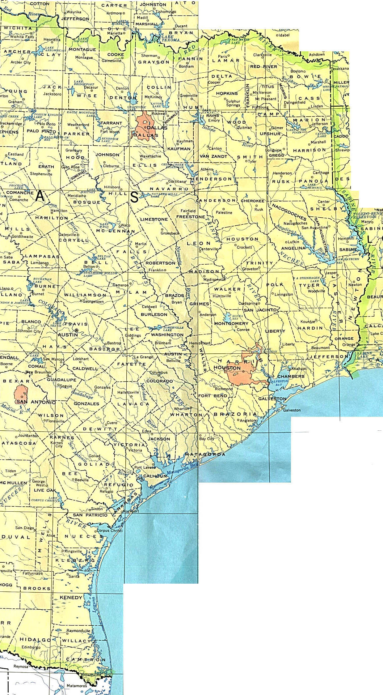 Dry Counties In Texas Map : counties, texas, Texas, Perry-Castañeda, Collection, Library, Online