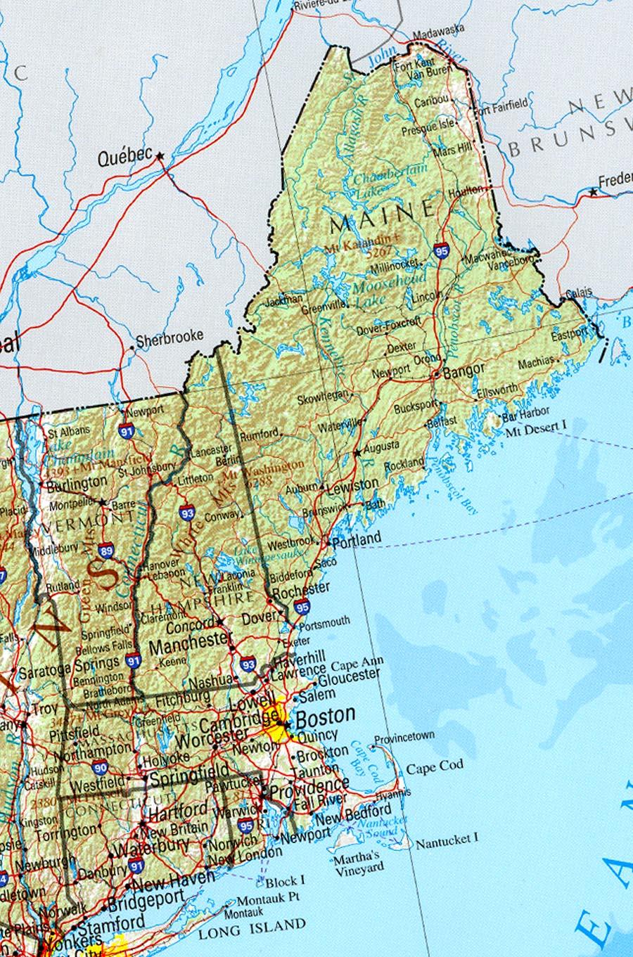 Show Me A Map Of New England : england, Europe, Hampshire