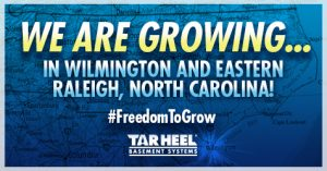 Wilmington GROWING FB Post Graphic Tar Heel Basement Systems Expands