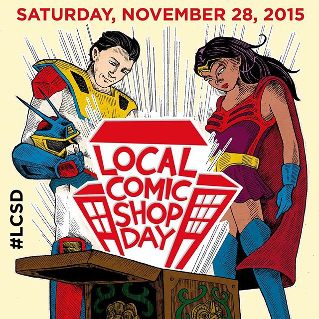 Sat Nov 28th is the 1st ever Local Comic Shop Day!  And since it coincides with our yearly 20% off Thanksgiving weekend sale.. You can get LCSD exclusive variants at 20% off cover price!  Limit 1 per customer. #lcsd