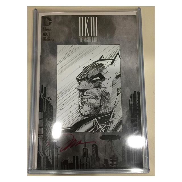 Dark Knight III The Master Race #1 #jimlee 1 in 5000 Signed & Hand Drawn Sketch Variant Cover!  Much thanks to #dccomics