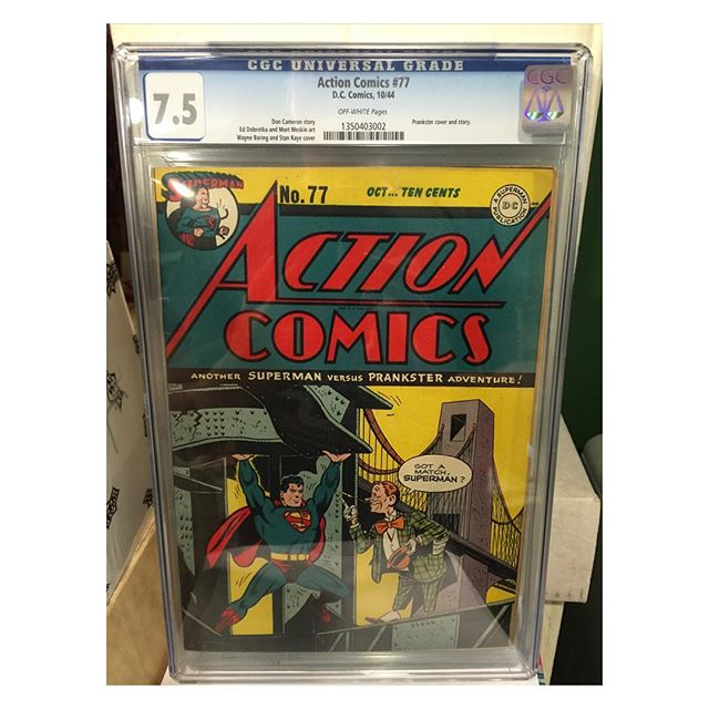 #goldenagecomics back from #cgc #actioncomics #77 #superman