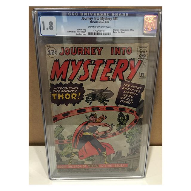 Just in from #cgc !  #journeyintomystery83 1st #thor