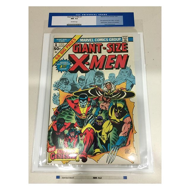 Just in!  Giant-size #xmen #1 #cgc 9.2 universal OW. Out of holder