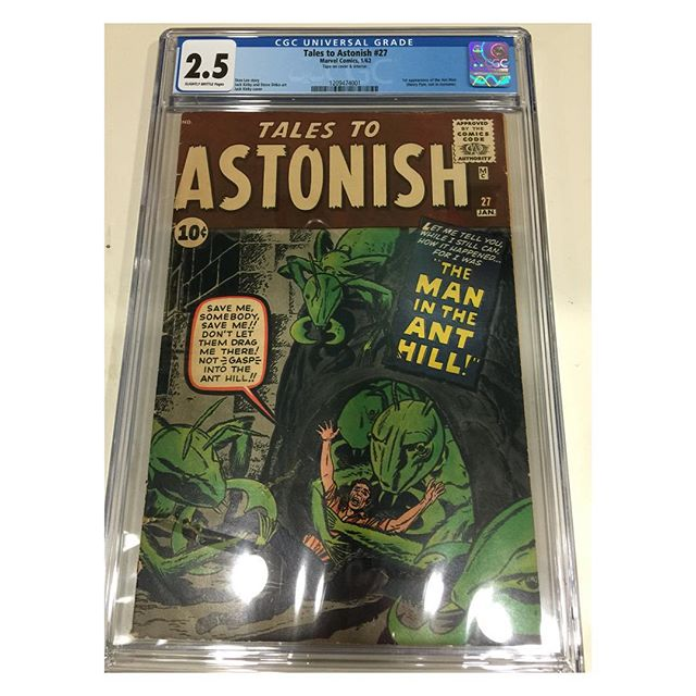 Just in from #cgc Tales to Astonish #27 1st appearance of #antman