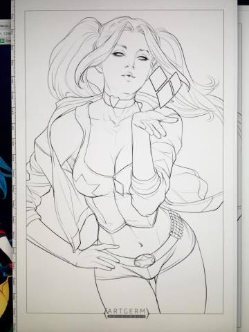 Harley Quinn 1 inked