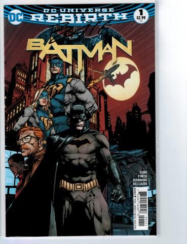 Batman #1 signed Matt Banning 07072016