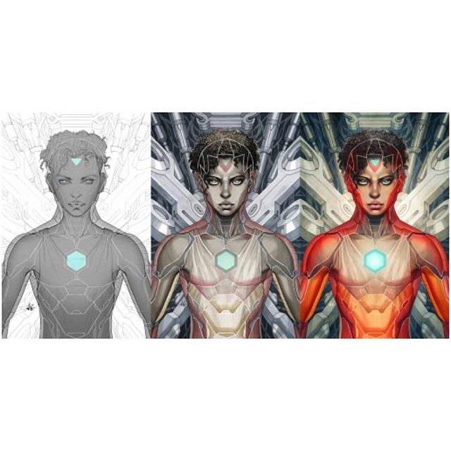 Artgerm's new exclusive Legacy Edition cover on presale now @ legacycomics.com!  Featuring Riri Williams as Iron Heart for Marvel Now's Invincible Iron Man #1. #artgerm #legacyedition #ironheart #ironman #ririwilliams #marvelcomics #marvelnow #newironman