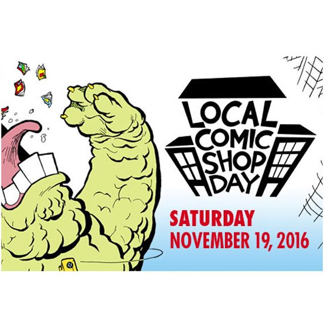 #LCSD2016 is tomorrow Saturday Nov 19th!  Come on by and get your hands on a bunch of exclusives at cover price!  www.legacycomics.com