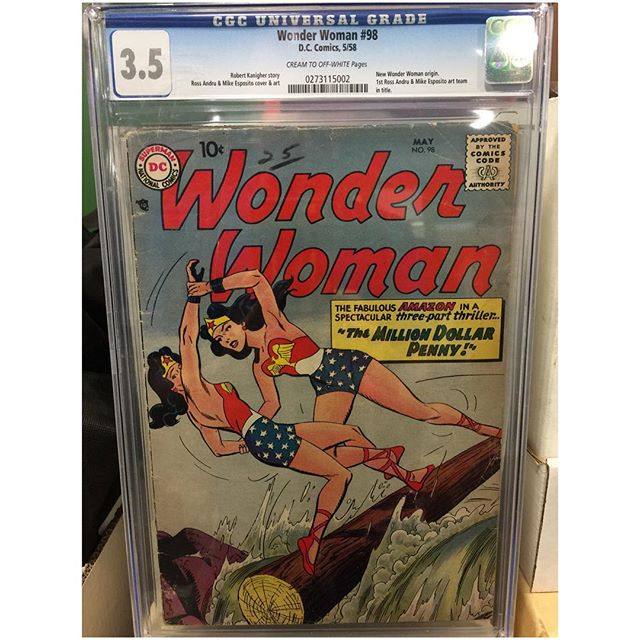 Just in!  #wonderwoman #98 New Wonder Woman Origin #igcomics #igcomicfamily #cgc
