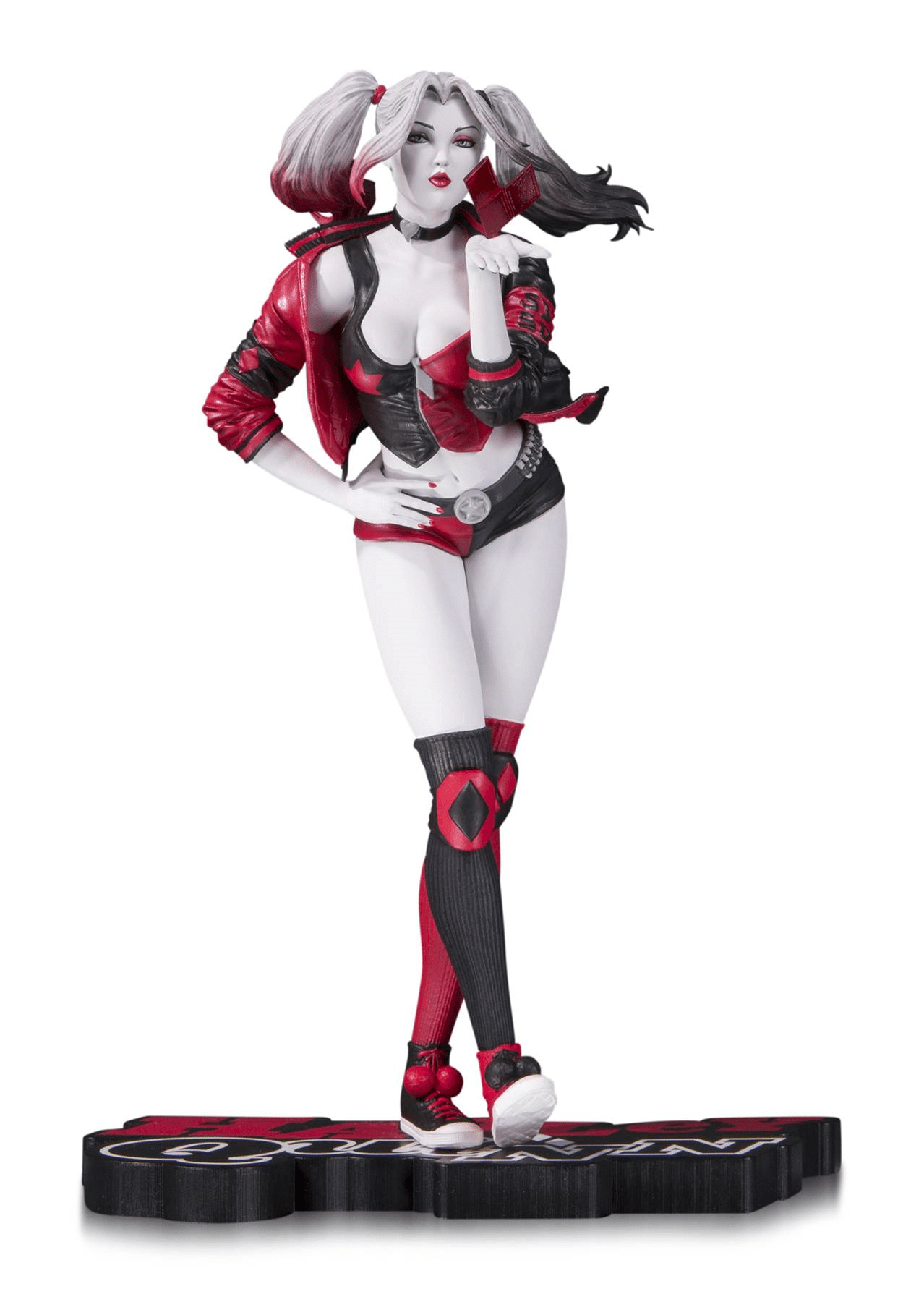 dc collectibles harley quinn 1 red white black statue by stanley