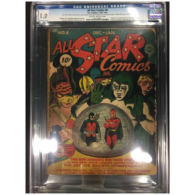 All Star Comics #8 in the House!  1st appearance of #wonderwoman #igcomicfamily #igcomics #goldenagecomics #dccomics #allstarcomics