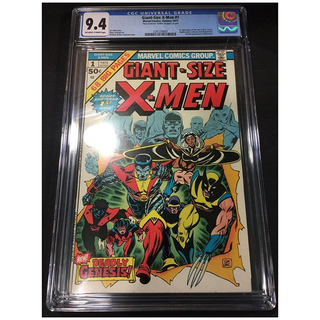 #cgc fresh!  Giant-Size X-Men #1 Universal 9.4. For sale please DM for pricing. #xmen #igcomics #igcomicfamily #marvelcomics #bronzeagecomics