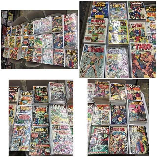 So this late 60s original owner comic collection came in today.. will post some of the highlights soon!  #igcomics #igcomicfamily #captainamerica #spiderman #xmen #fantasticfour #avengers #daredevil #ironman #thor #doctorstrange #silverage #silversurfer #hulk #forsale