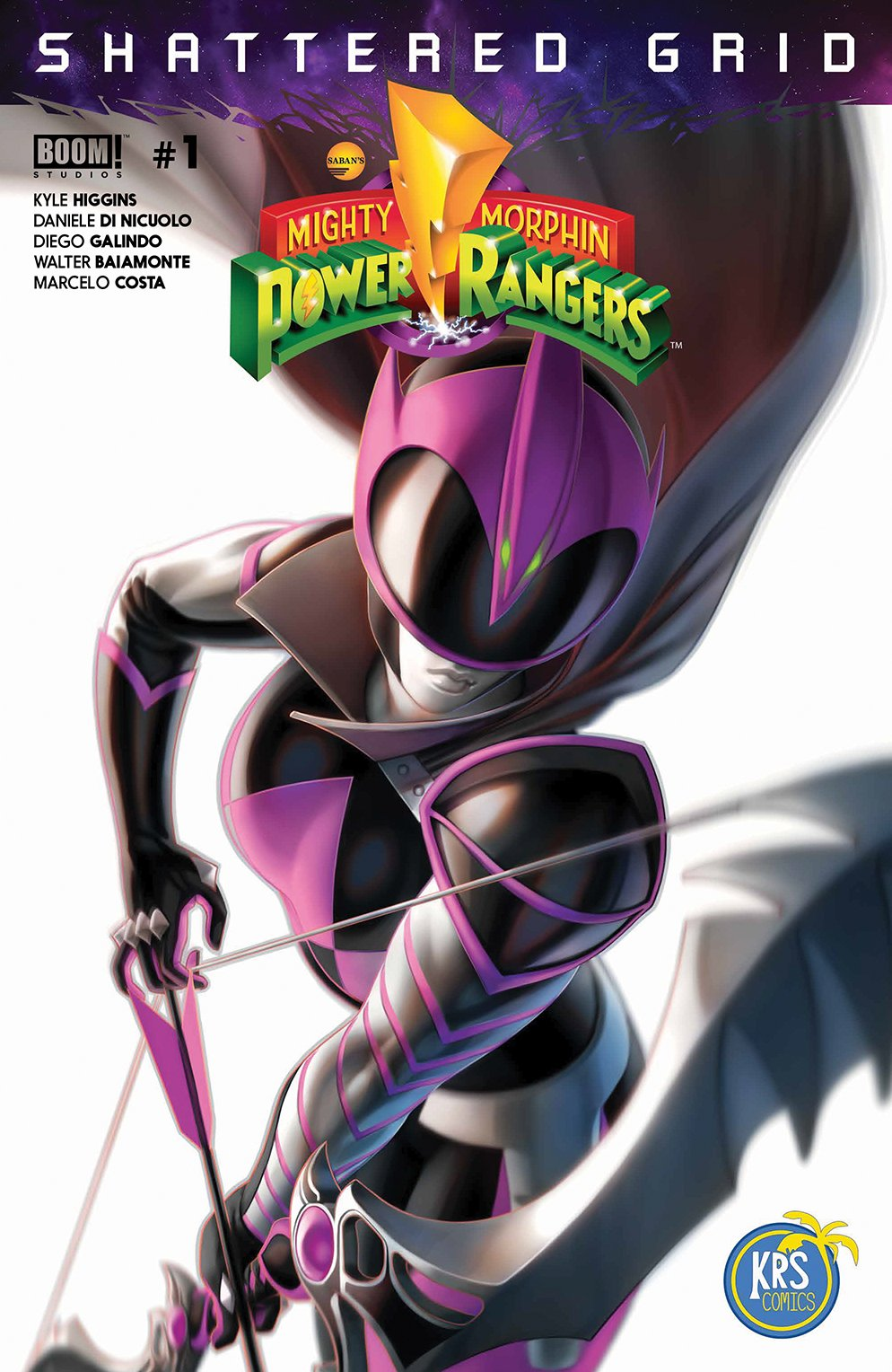 MIGHTY MORPHIN POWER RANGERS #1 SIGNED TAN HIGGINS EXCLUSIVE VARIANT W// COA