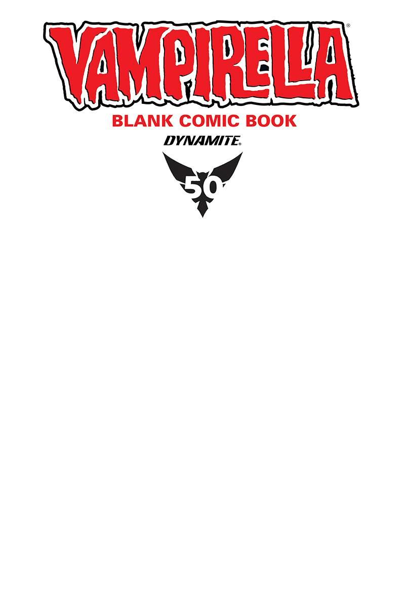 VENGEANCE OF VAMPIRELLA #1 BLANK AUTHENTIX ED DYNAMITE COMICS 2019