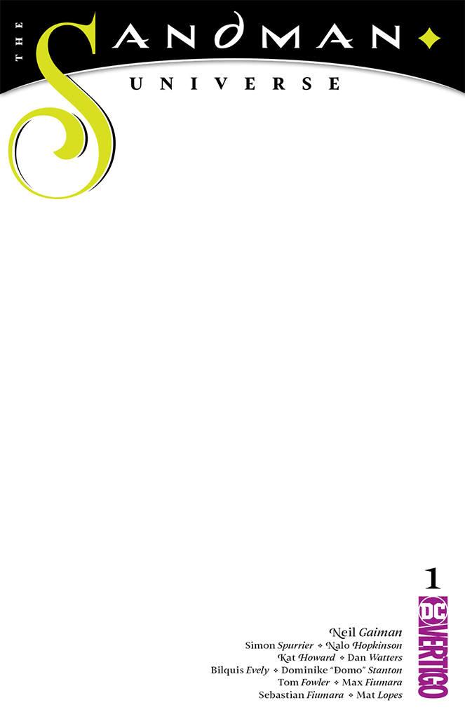 Sandman Universe 1 Blank Variant Cover