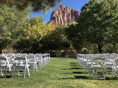 Chairs At Zion Wedding