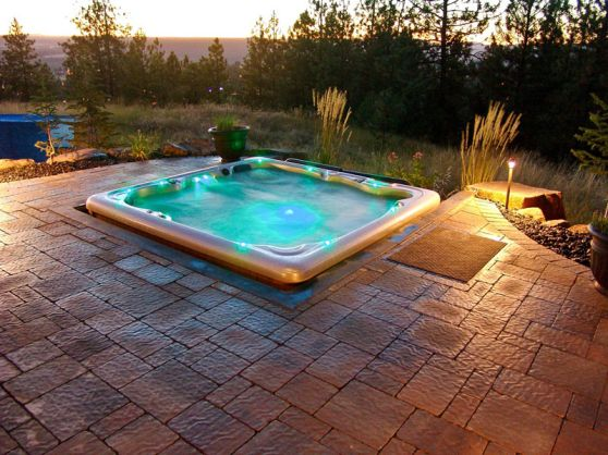 tub ideas hot tub deck deck design spa ideas hot tubs deck hottub - Hot Tub Design Ideas