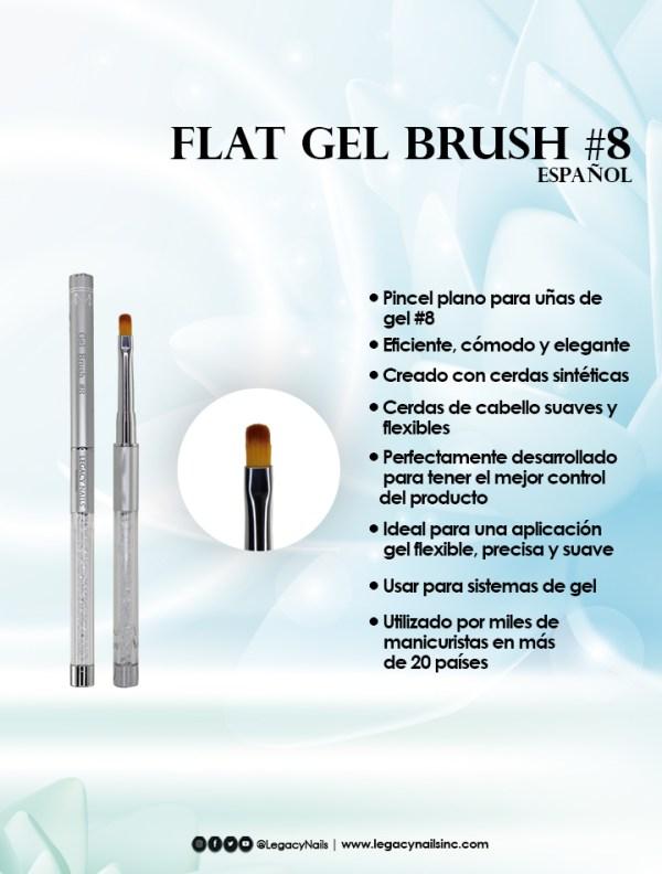 flat gel brush 8 esp