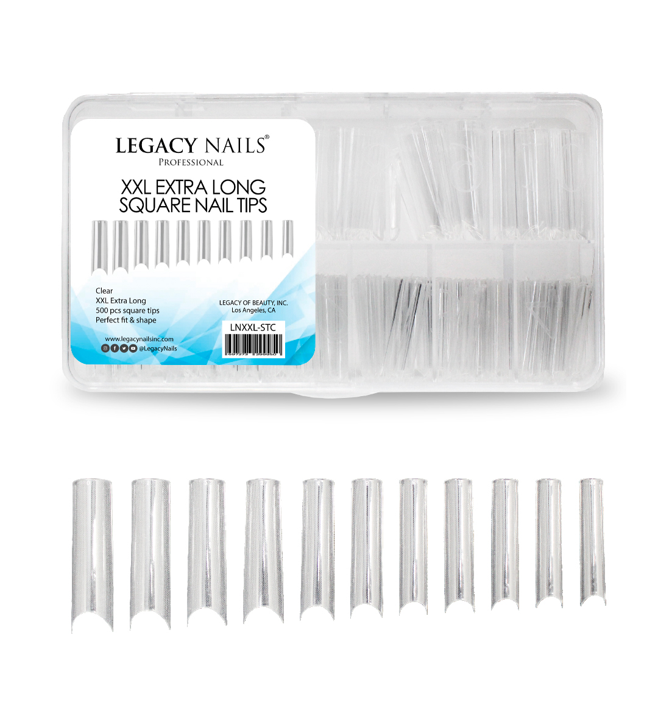xxl extra long square nail tips