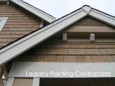 Detail exterior house trim, Walnut Creek, CA.-imp
